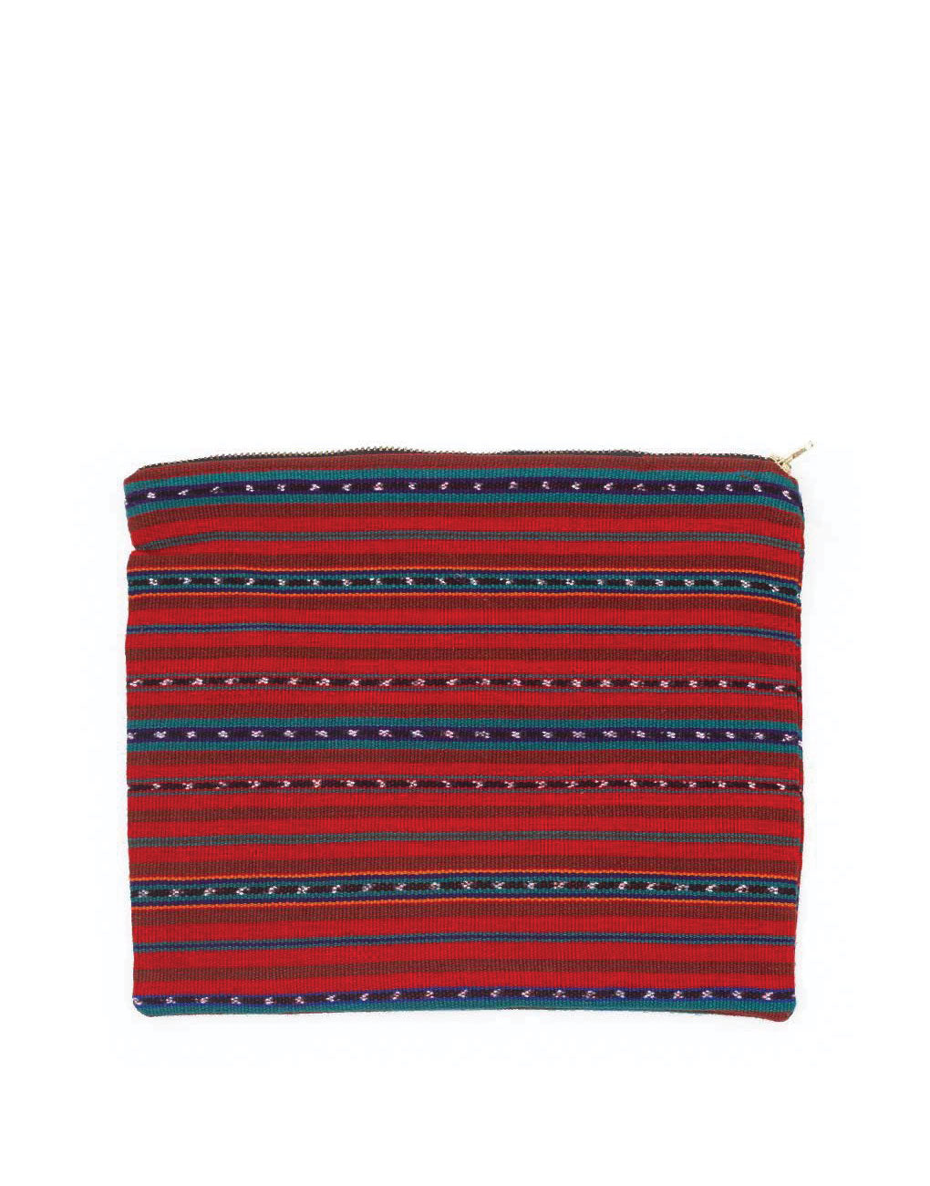 Fair Trade Handwoven Red & Blue Travel Bag