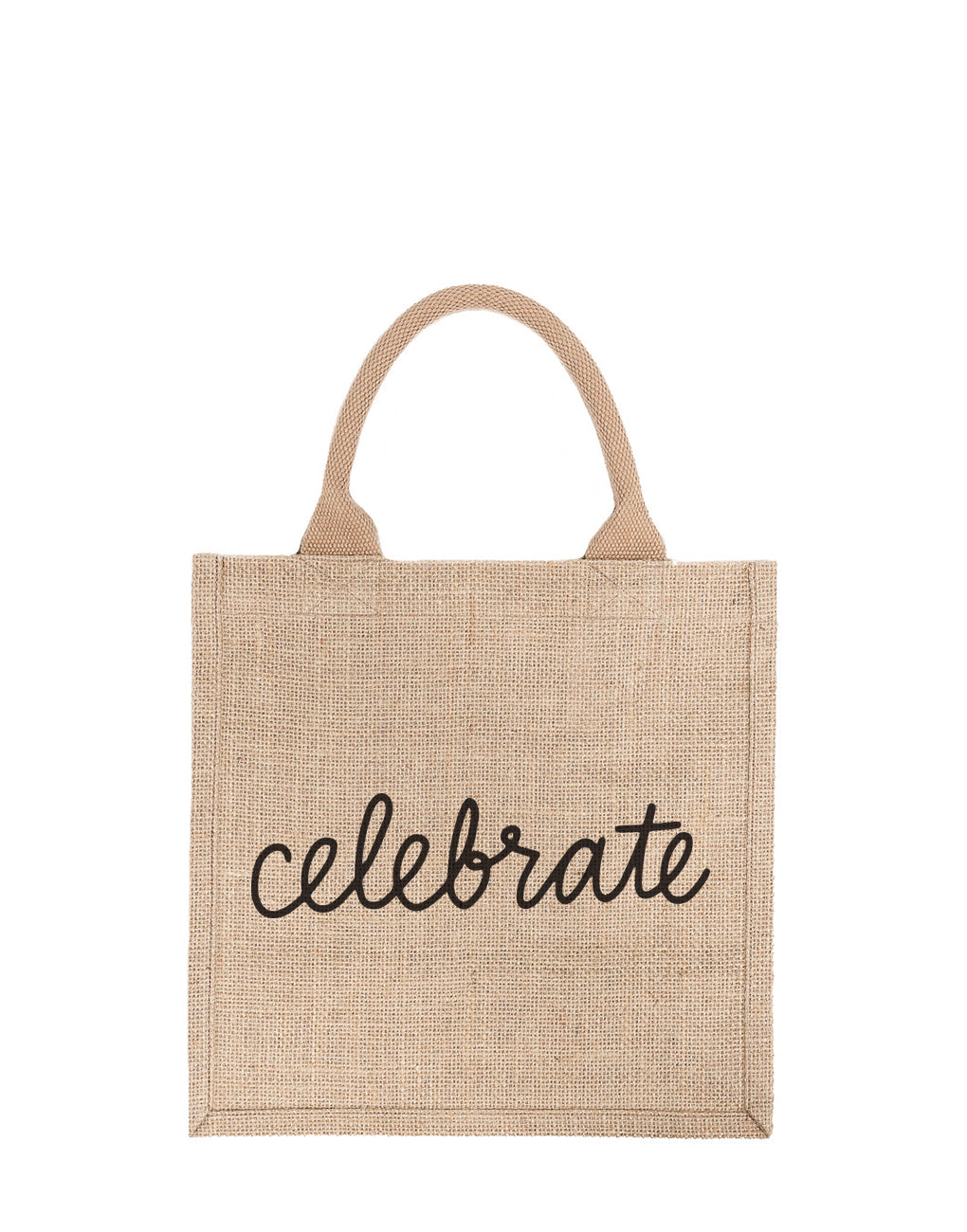 Large Celebrate Reusable Gift Tote In Black Font | The Little Market