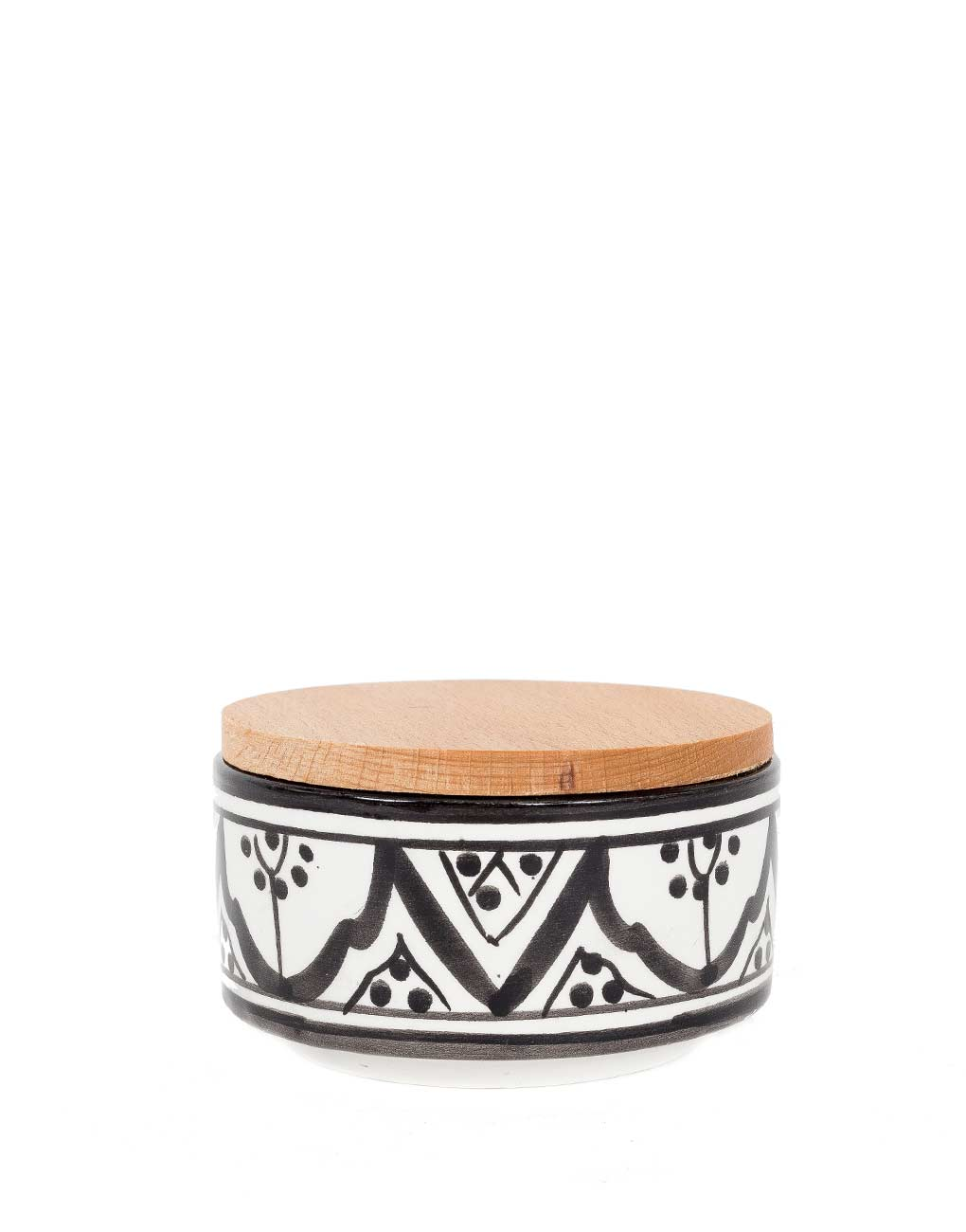 Fair Trade, Handmade Medium Moroccan Ceramic Box, Black