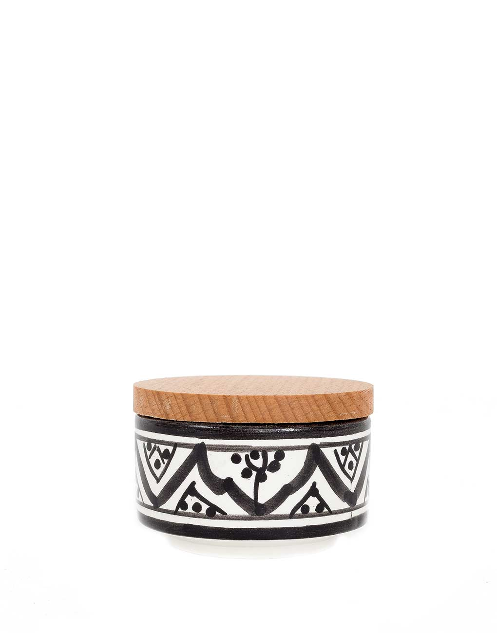 Fair Trade, Handmade Small Moroccan Ceramic Box, Black