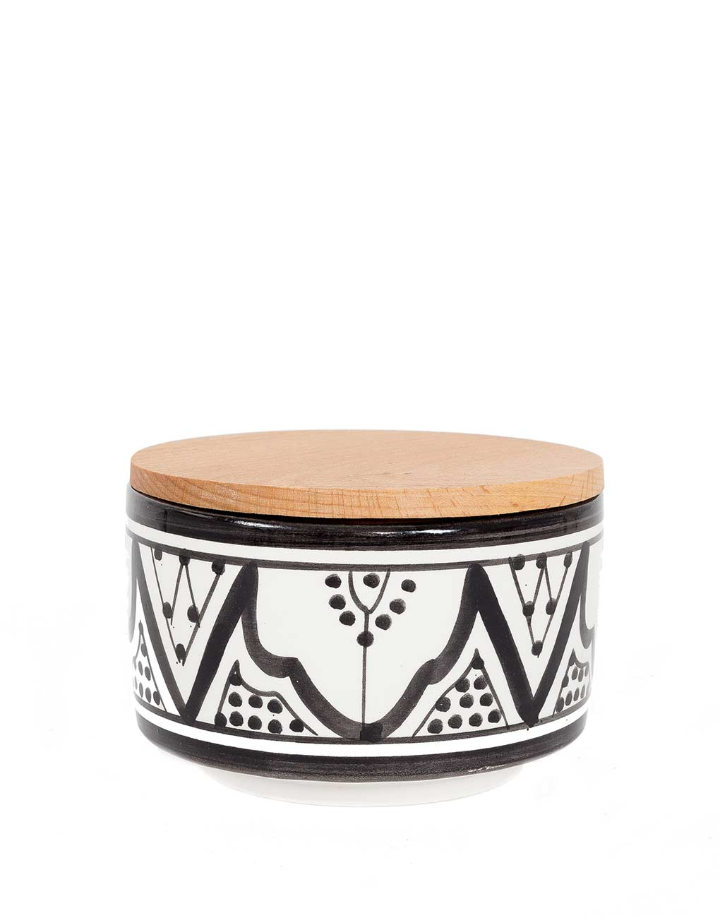 Fair Trade, Handmade Moroccan Large Ceramic Box, Black
