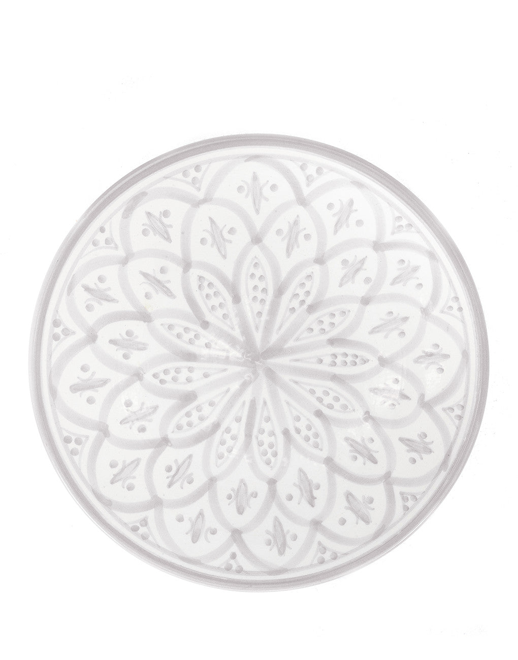 Fair Trade Handmade gray ceramic dinner plate
