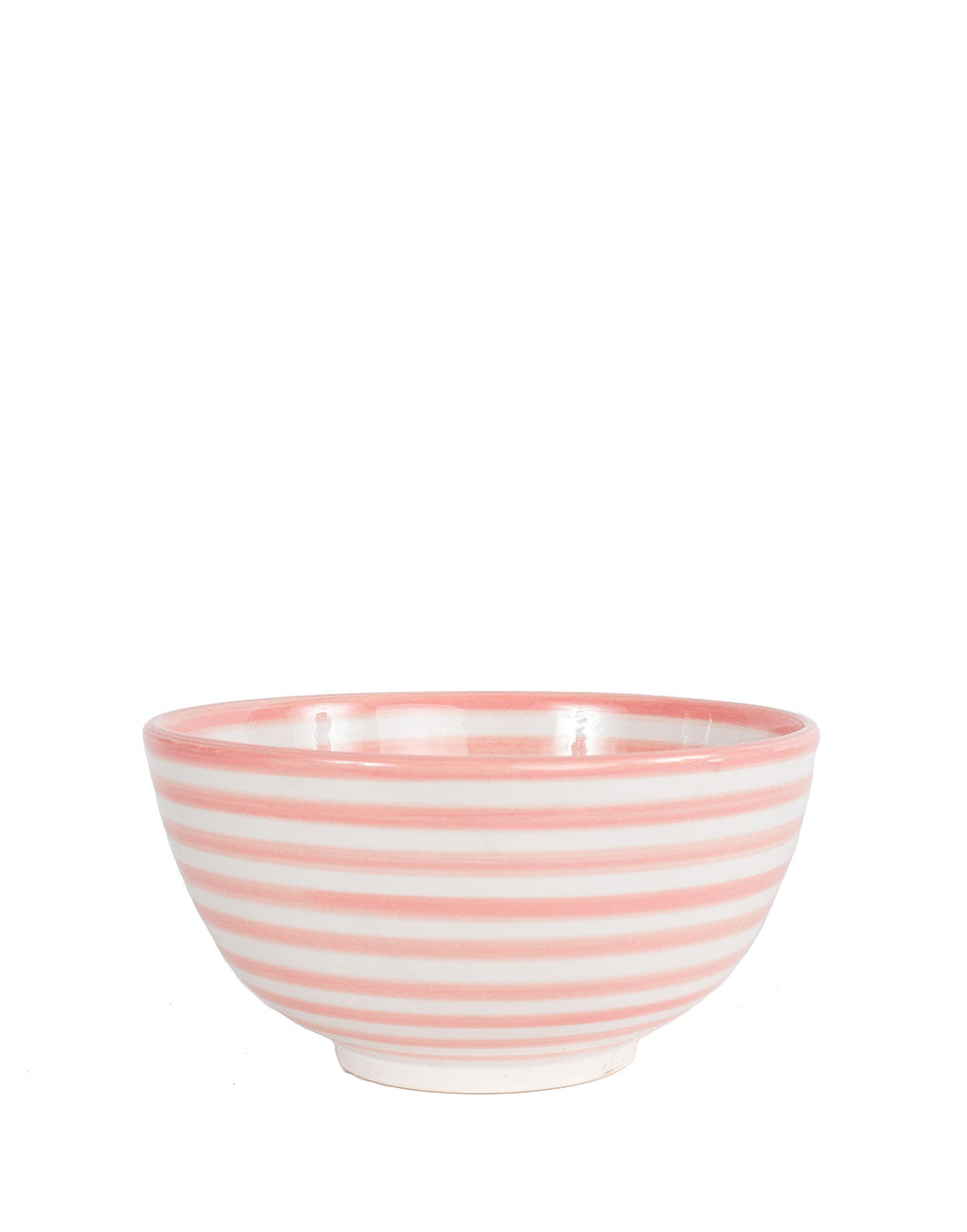Ceramic Salad Bowl - Blush Stripe | The Little Market