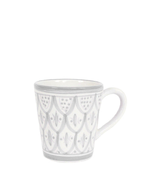 Fair Trade, Handmade Moroccan Ceramic Mug, Gray