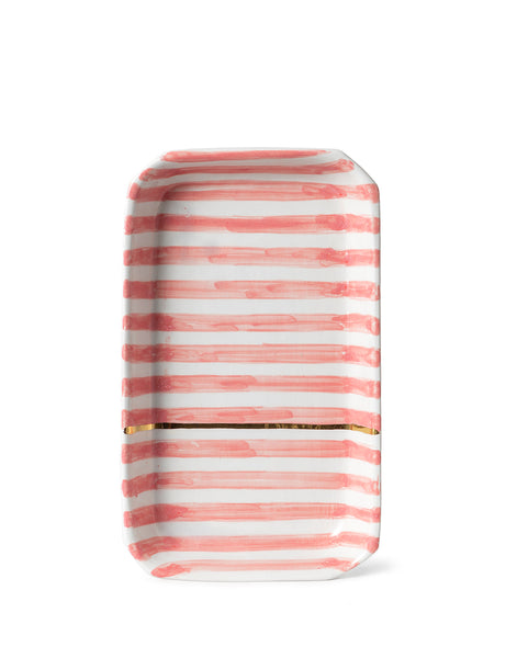 Striped Ceramic Tray - Blush