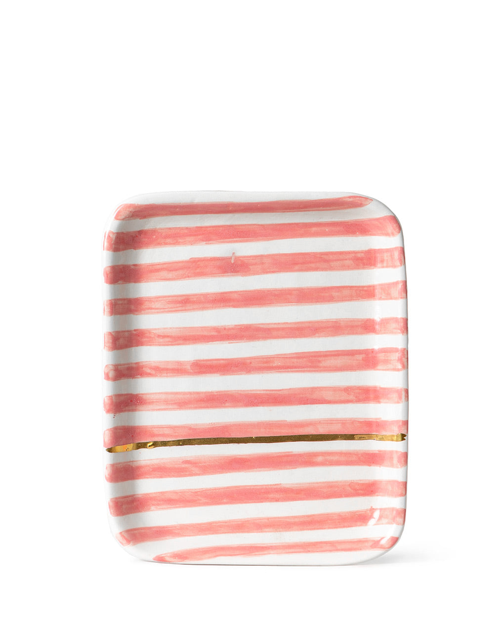 Ceramic Tray - Blush Stripe