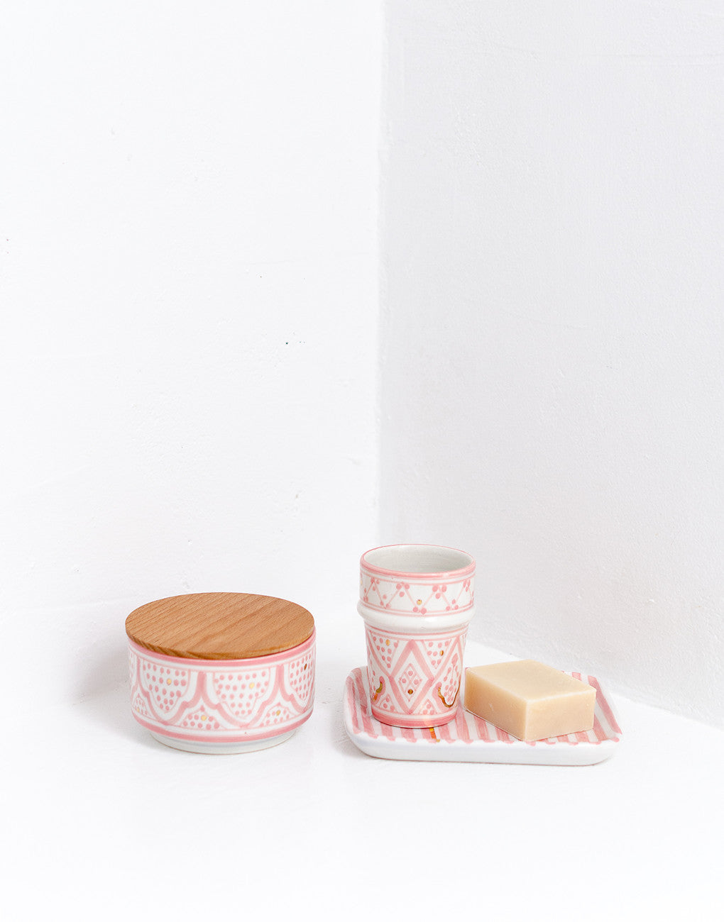 Fair Trade, Handmade Moroccan Ceramic Cup, Pink
