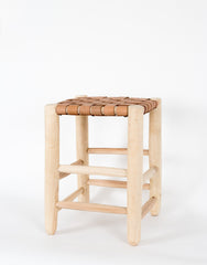 Fair Trade Handmade Moroccan Leather Stool