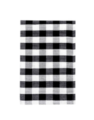 Fair Trade, Artisan Made Cotton Checker Black and White Kitchen Towel