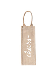 Style 1 Cheers Purposefull Wine Tote In White Font | The Little Market