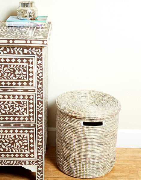Fair Trade White Hamper Market Basket