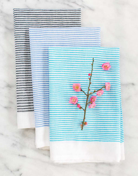 Fair Trade Blue Striped Cotton Napkin