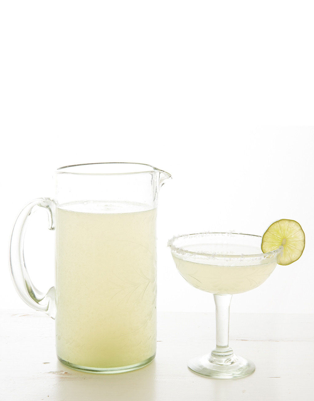 Fair Trade Hand-Etched Recycled Clear Margarita Glass