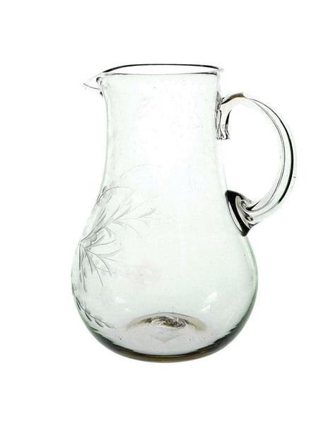 Clear Round Glass Pitcher