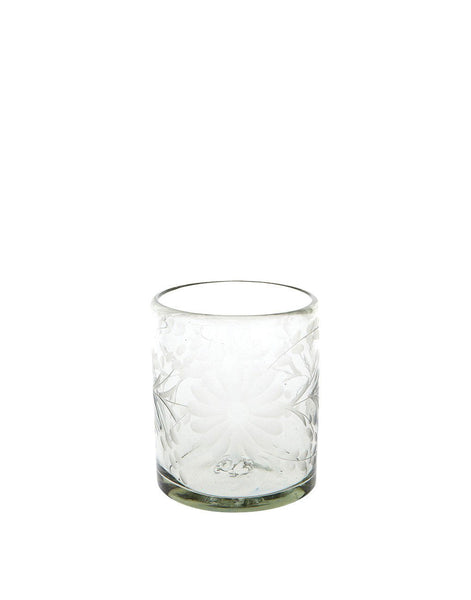 Clear Short Flower Glass