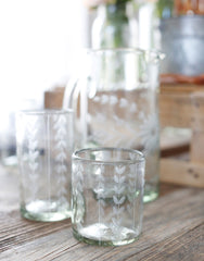 Clear Short Leaves Glass | The Little Market
