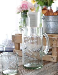 Clear Tall Glass Pitcher | The Little Market