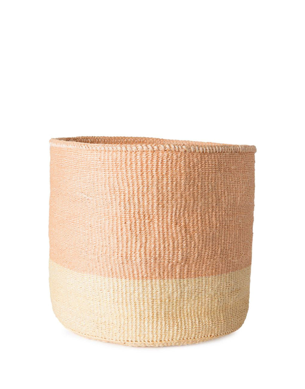 Colorblock Sisal Basket - White 11 | The Little Market