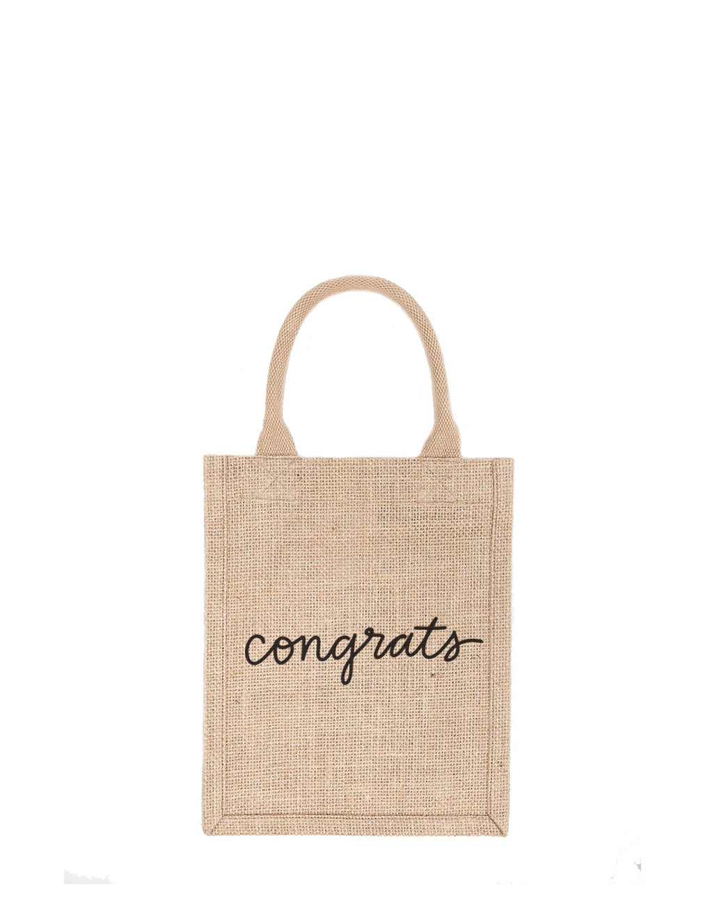Small Congrats Reusable Gift Tote In Black Font | The Little Market