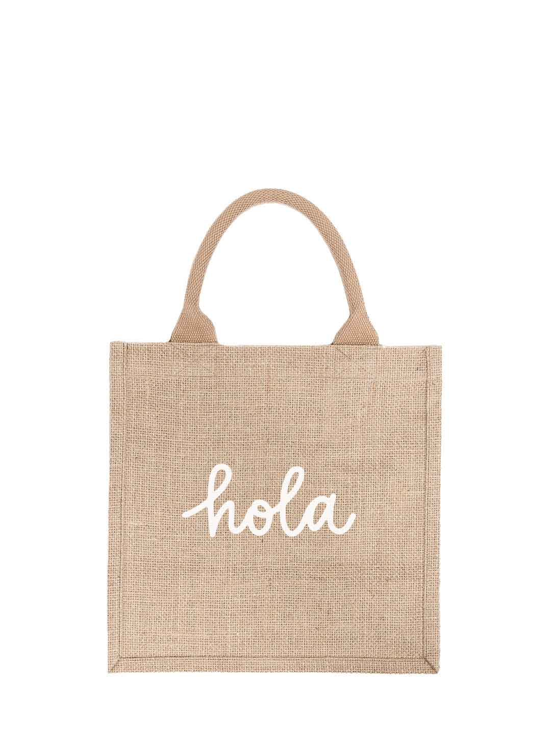 Large Hola Reusable Gift Tote In White Font | The Little Market