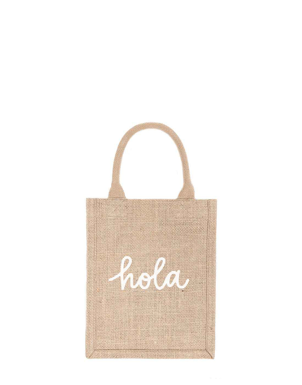 Small Hola Reusable Gift Tote In White Font | The Little Market
