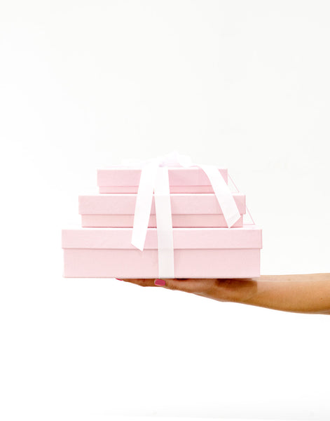 Fair Trade, Eco-friendly, Recycled Cotton Blush Pink Gift Box