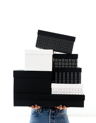 Fair Trade, Eco-friendly, Recycled Cotton Black Gift Box