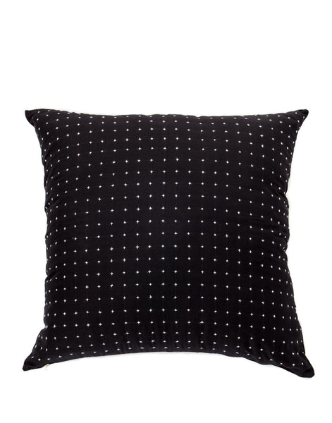 Cross Stitch Pillow - Black