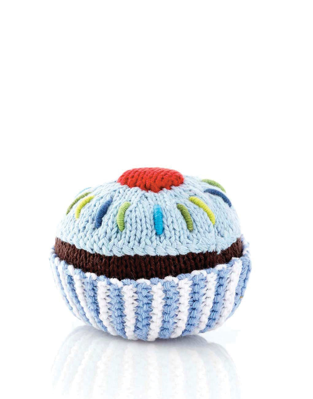 Cupcake Rattle - Blue | The Little Market