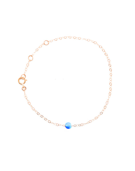 Dark Blue Opal Bracelet - Rose Gold