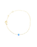 Dark Blue Opal Bracelet - Yellow Gold