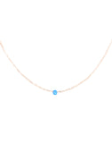 Dark Blue Opal Necklace - Rose Gold