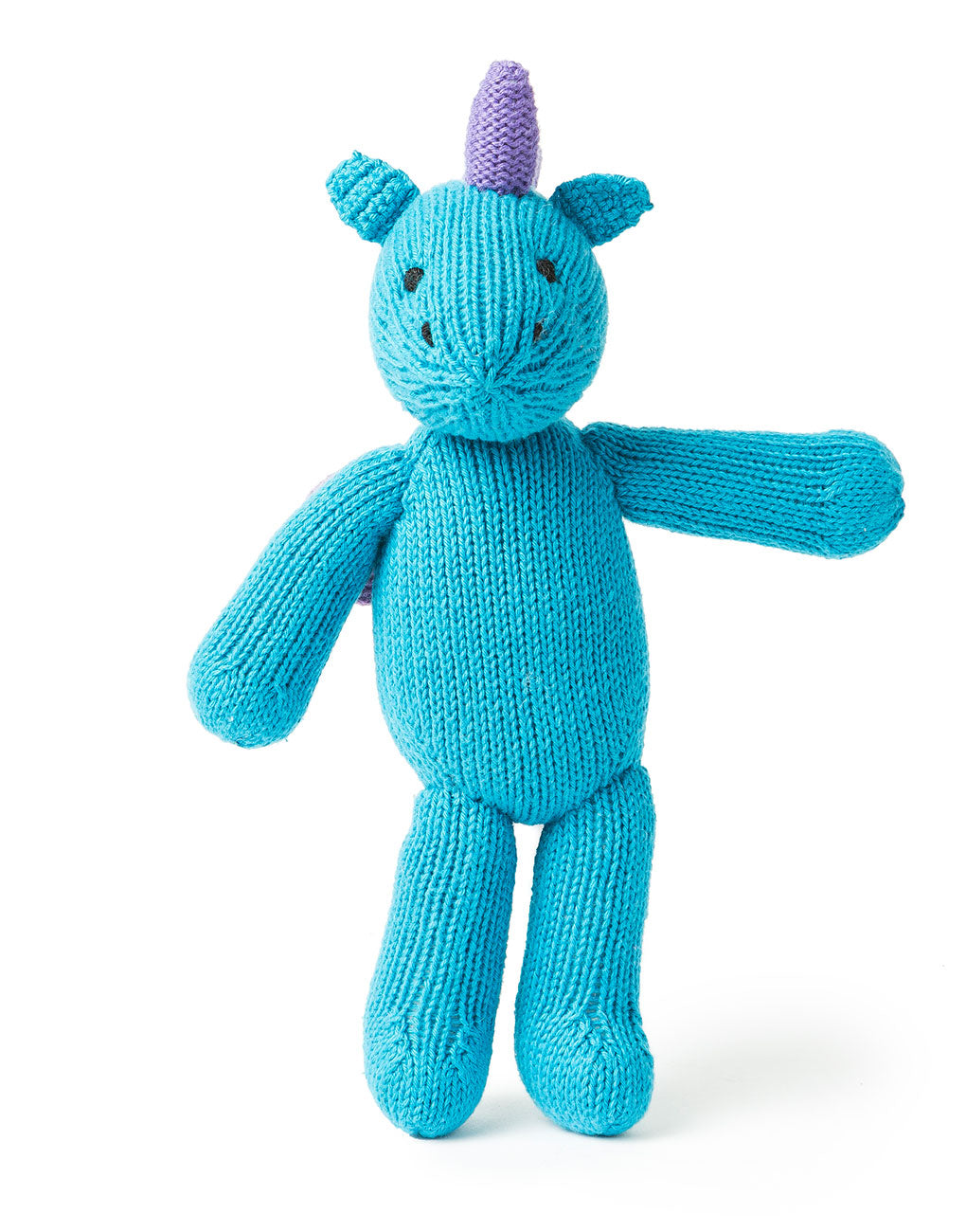 Fair Trade Hand Knit Peruvian Stuffed Animal For Children Blue