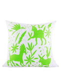 Fair Trade Handmade Green Pillow