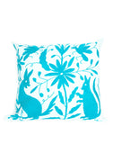 Fair Trade Handmade Blue & Green Cotton Pillow