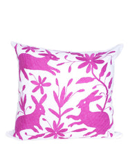 Fair Trade Handmade, Embroidered Pink Pillow