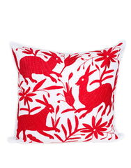 Fair Trade Handmade Red Cotton Pillow