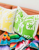 Fair Trade, Handmade, Embroidered, Green Pillow