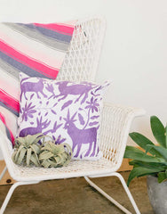 Fair Trade, Handmade Purple Pillow
