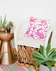 Fair Trade Handmade Pink Cotton Pillow