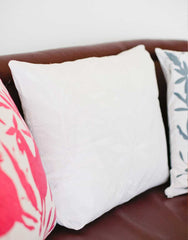 Fair Trade Handmade White Cotton Pillow