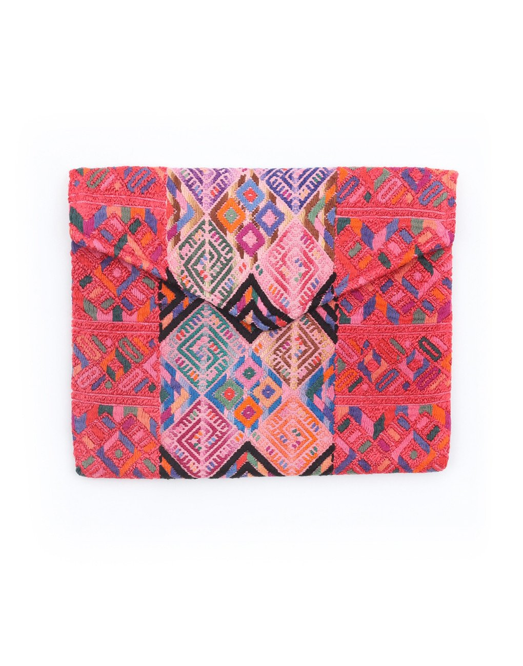 Fair Trade, Artisan Made Pink Pattern Envelope Clutch