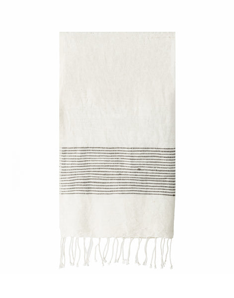 Ethiopian Cotton Hand Towel - Gray