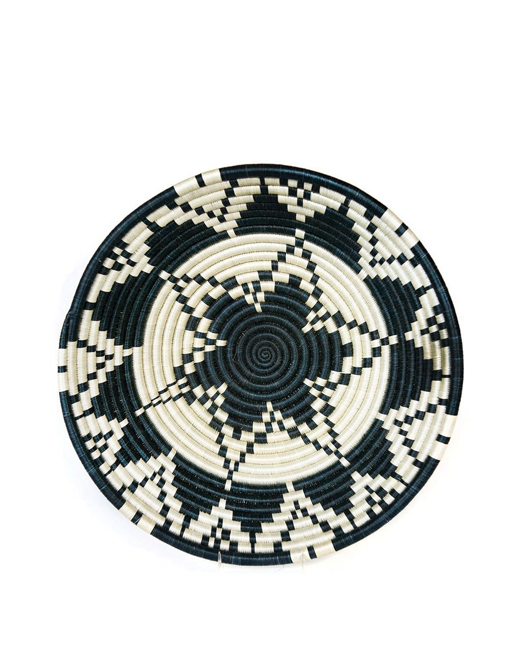 Fair Trade, Hand-woven Extra Large Sun Bowl, Sisal and Sweet Grass, Black