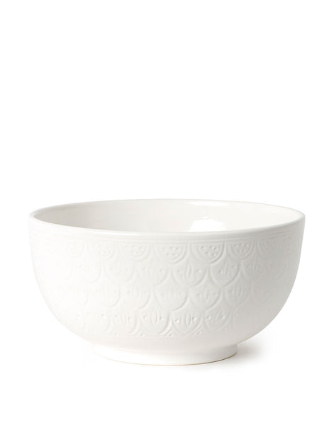 XL Ceramic Salad Bowl - White
