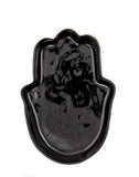 Large Ceramic Fatima Hand In Black | The Little Market