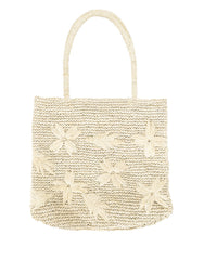 Fair Trade, Artisan Made, Floral Tote, Natural