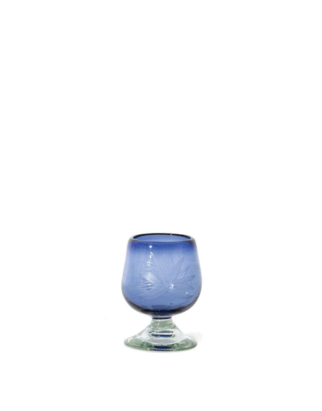 French Blue Agave Glass Snifter