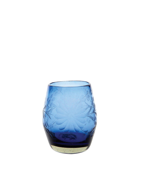 French Blue Stemless Wine Glass