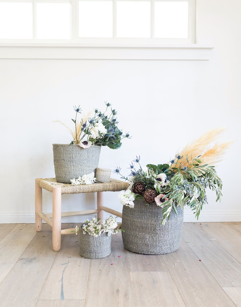 Solid Sisal Basket - Gray | The Little Market